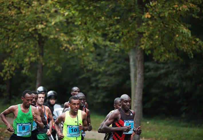 20 km de Paris coureurs tête de la course