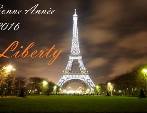 VTC et taxi moto Liberty vous souhaitent une excellente année 2016