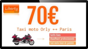 Tarif taxi moto à Orly Ouest