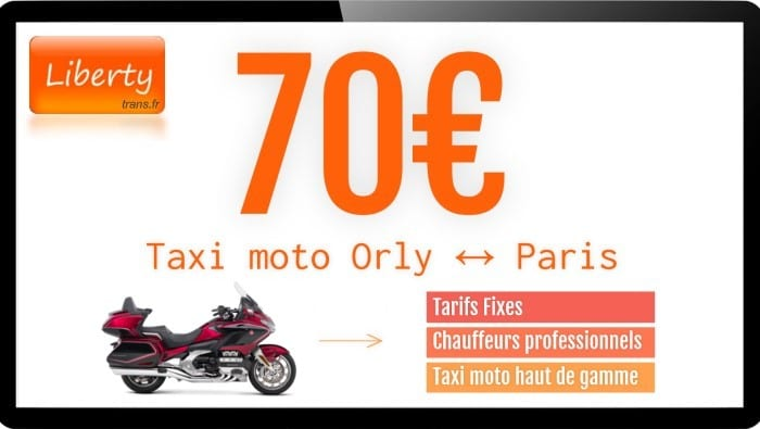 Tarifs moto taxi Orly