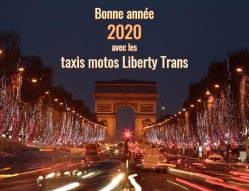 Liberty Trans taxi moto vous souhaitent une bonne année 2020