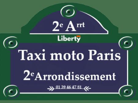 Taxi moto 2ème arrondissement Paris