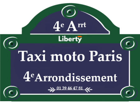 Taxi moto Paris 4eme arrondissement
