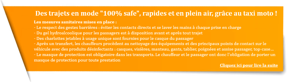 Taxi moto Paris Covid-19