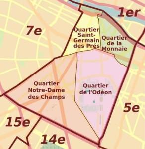 Taxi moto 6ème arrondissement Paris
