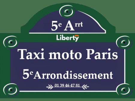 Taxi moto Paris 5ème arrondissement