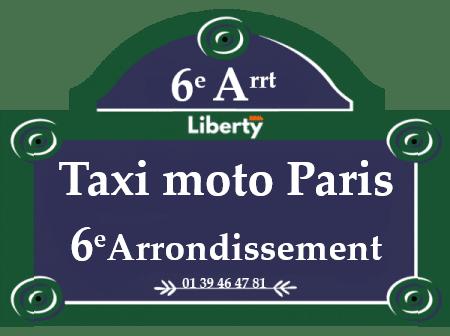 Taxi moto Paris 6ème arrondissement